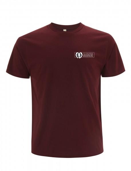 Herren T-Shirt burgundy